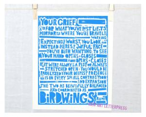 RUMI - Birdwings, Rumi Quote, Sympathy Gift, Wall Art, Grief Quote ...