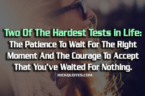 Waiting Quotes | Waited For Nothing