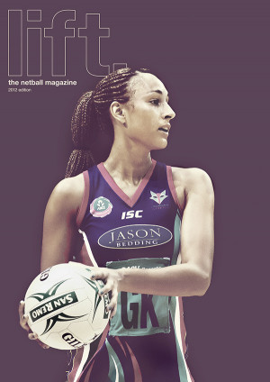 ... and England International netballer Geva Mentor on the front cover