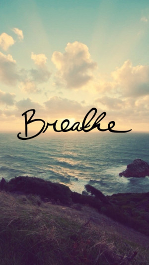 Breathe iPhone Wallpaper