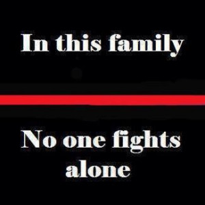 In This Family, No one fights alone.