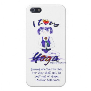 Love Yoga-Yoga Girl+Fun Quote iPhone 5 Cover