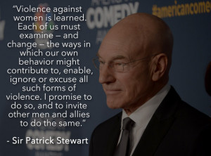... that violence and gender inequality will no longer be tolerated