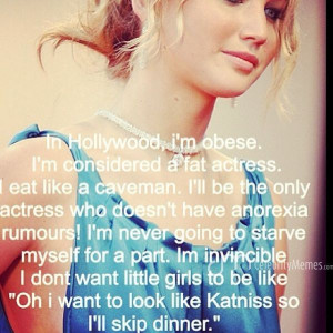 Jennifer Lawrence Quotes About Weight