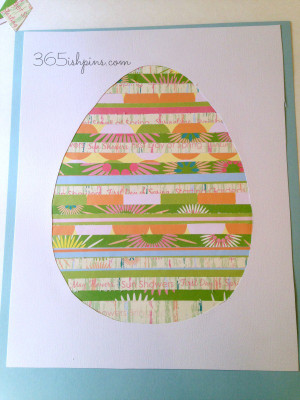 great easy Easter craft And a great way to use up some of my paper