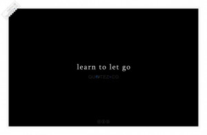 Learn to let go quote