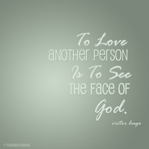 To Love Is To See