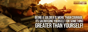soldier sacrifice soldiers arent afraid