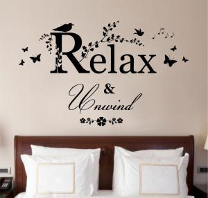 ... -Unwind-Quote-Vinyl-Wall-Art-Sticker-Decal-Mural-Bedroom-Bathroom.jpg