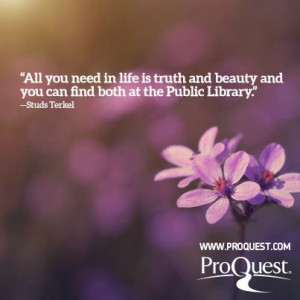 Quote about public libraries.
