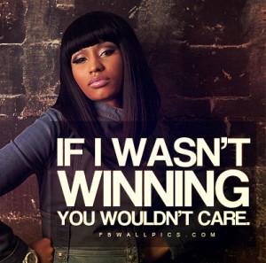Nicki Minaj Winning Quote Picture