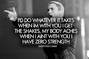 body, eminem, love, lyrics, quote, shakes, space bound, strength, text