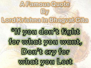 Famous Quote By Lord Krishna.