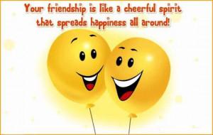 friendship spread happiness all around