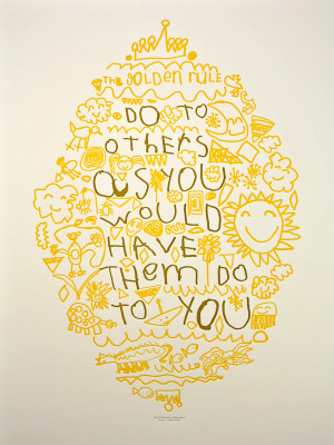 Golden Rule Poster, by Koen, age 6
