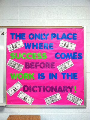 Famous quote bulletin board I created for my high school classroom.