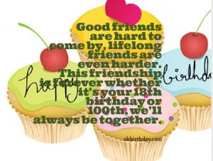 Good friends are hard to come by, lifelong friends are even harder ...
