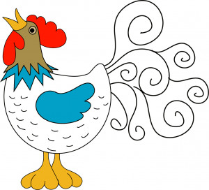 ... an egg and it's not fertilized by the rooster, then it's breakfast