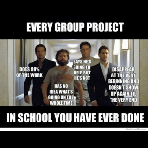 ... meme haha funny humor pun lol group project school wolfpack hangover