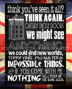 Doctor Who Quote - Nothing Will Ever Be the Same - Digital Chalkboard ...