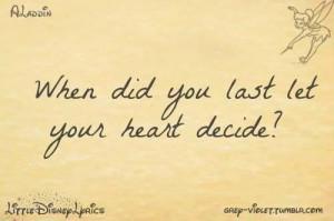 Aladdin jasmine love quotes