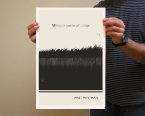 Book Quote Walt Whitman Poster Illustration by Evan Robertson