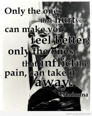 Madonna old image with sayings