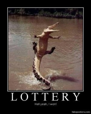 Lottery - Demotivational Poster
