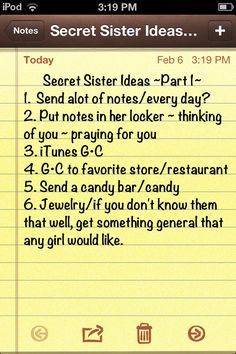 Secret sister ideas girls!!! This is part 1, more to come later!