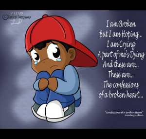 heart broken quotes and the picture of the emo boy sad quote about