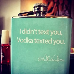 funny drinking quotes i didn t text you vodka texted you