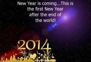 New Year is coming…This is the first New Year after the end of the ...