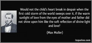 child's heart break in despair when the first cold storm of the world ...
