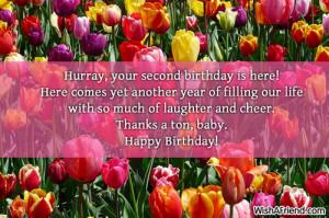 2nd Birthday Wishes...