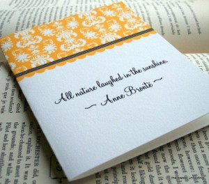 Bronte Sisters Literature Quote Note Cards
