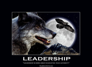 ... › Portfolio › Leadership Grey Wolf Motivational Poster