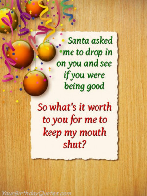 Christmas, holiday, quotes, funny, humor, naughty, nice