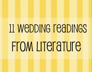 Wedding Readings From Literature – Wedding Wednesday