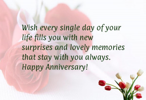 ... and lovely memories that stay with you always. Happy Anniversary