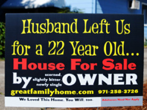 Scorned' Mom Whose Cheating Ex 'For Sale' Sign Went Viral Is Shocked ...