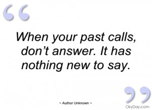 when your past calls author unknown
