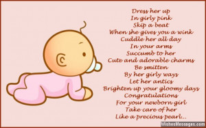 Newborn Baby Quotes And Poems Your baby girl's smiles and