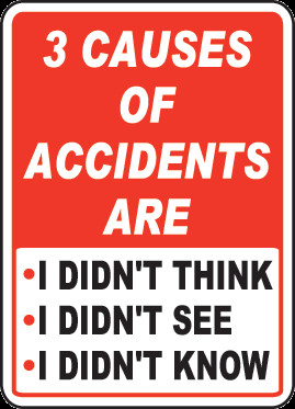 ... Of Accidents Are Sign - D3962. Safety Slogan Signs by SafetySign.com