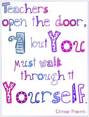 Teachers Open a Door...