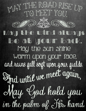 irish blessing chalk printable