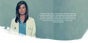... as Meredith Grey from the popular medical drama,