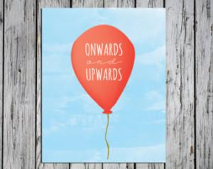 Red Balloon - Art Print - Onwards and Upwards ...