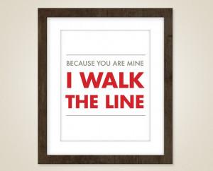 Music art quote - 8 x 10 art print - music art - Johnny Cash lyric ...