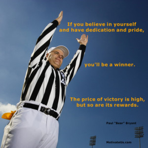 motivational picture of football referee with the quote: If you ...