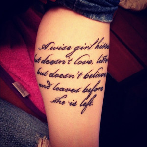 25+ Lovely Tattoo Quotes
